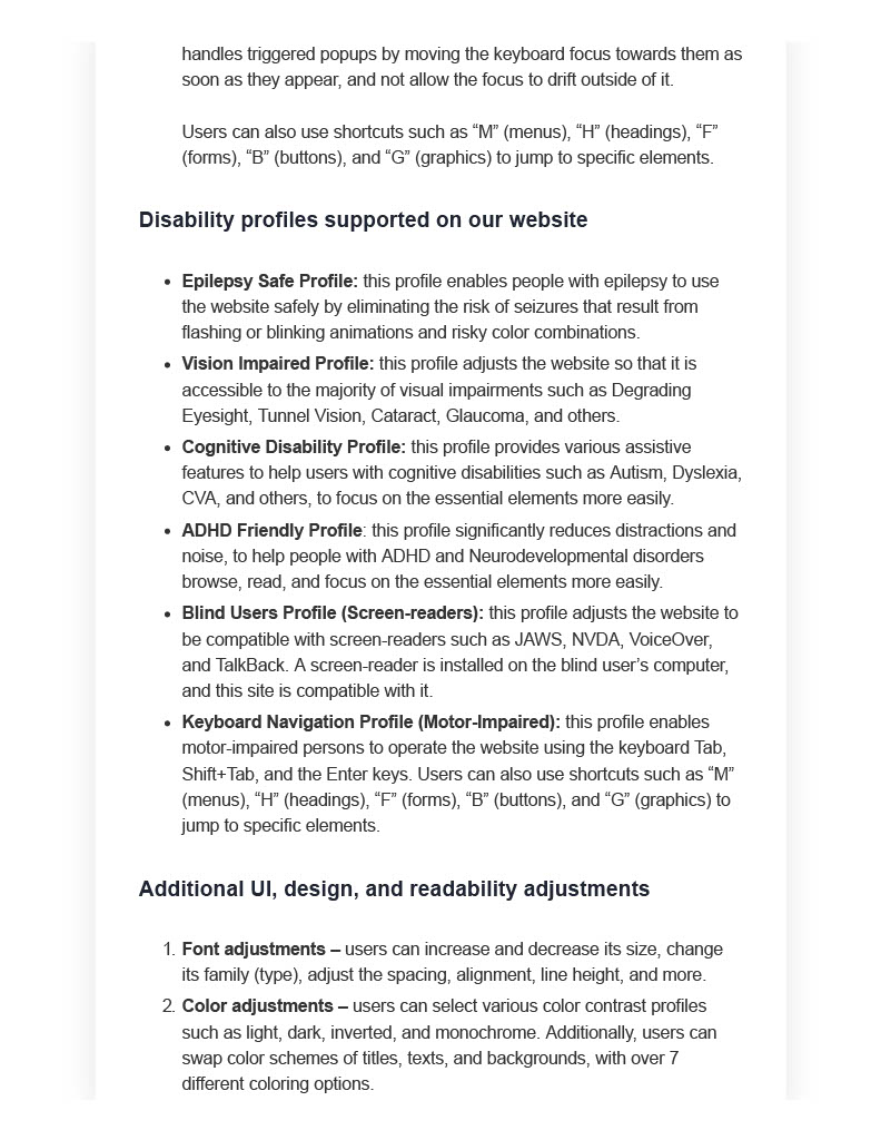 Long Island Power Solutions Accessibility Statement Page 3